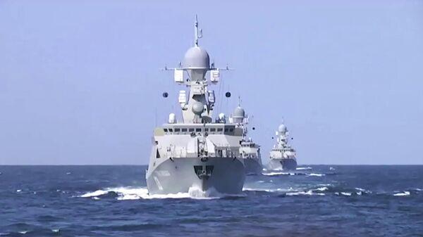 Корабли Каспийской флотилии произвели 26 пусков крылатых ракет морского базирования по позициям боевиков Исламского государства в Сирии