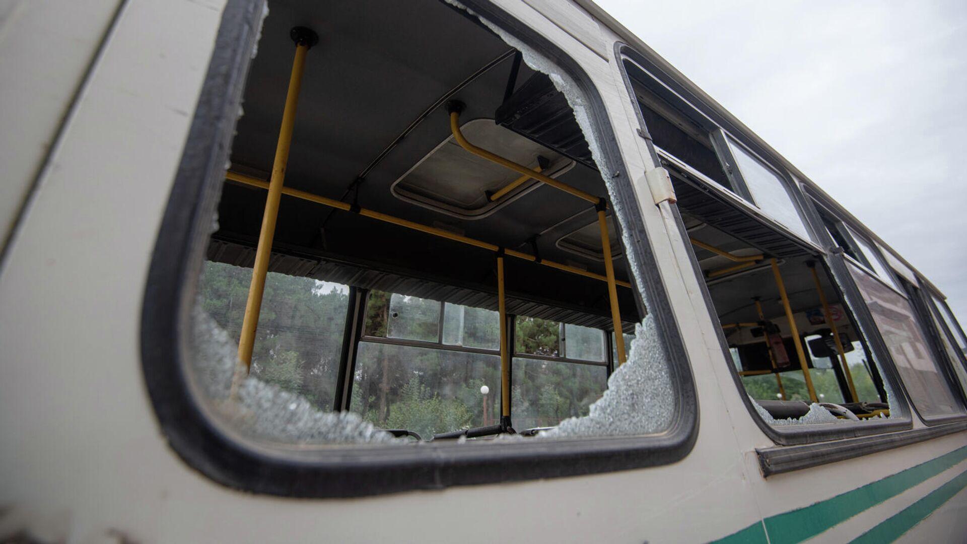 Автобус в городе Мартуни непризнанной Нагорно-Карабахской Республики - РИА Новости, 1920, 28.09.2020