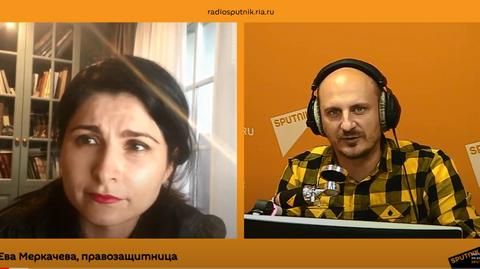 Ева Меркачева о Карабахе, штрафах и деле историка Юрия Дмитриева