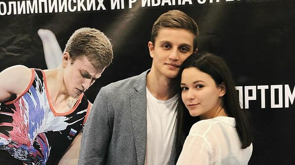 Российский гимнаст Иван Стретович и его супруга Ирина Шаповалова