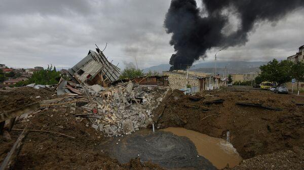 Последствия обстрела в Степанакерте, Нагорный Карабах