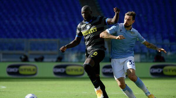 Игровой момент матча Лацио - Интер