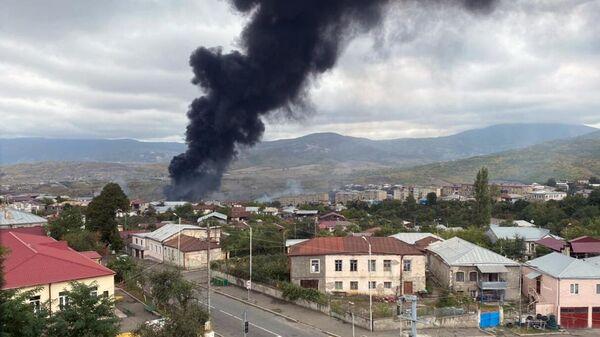 Последствия обстрелов в Степанакерте