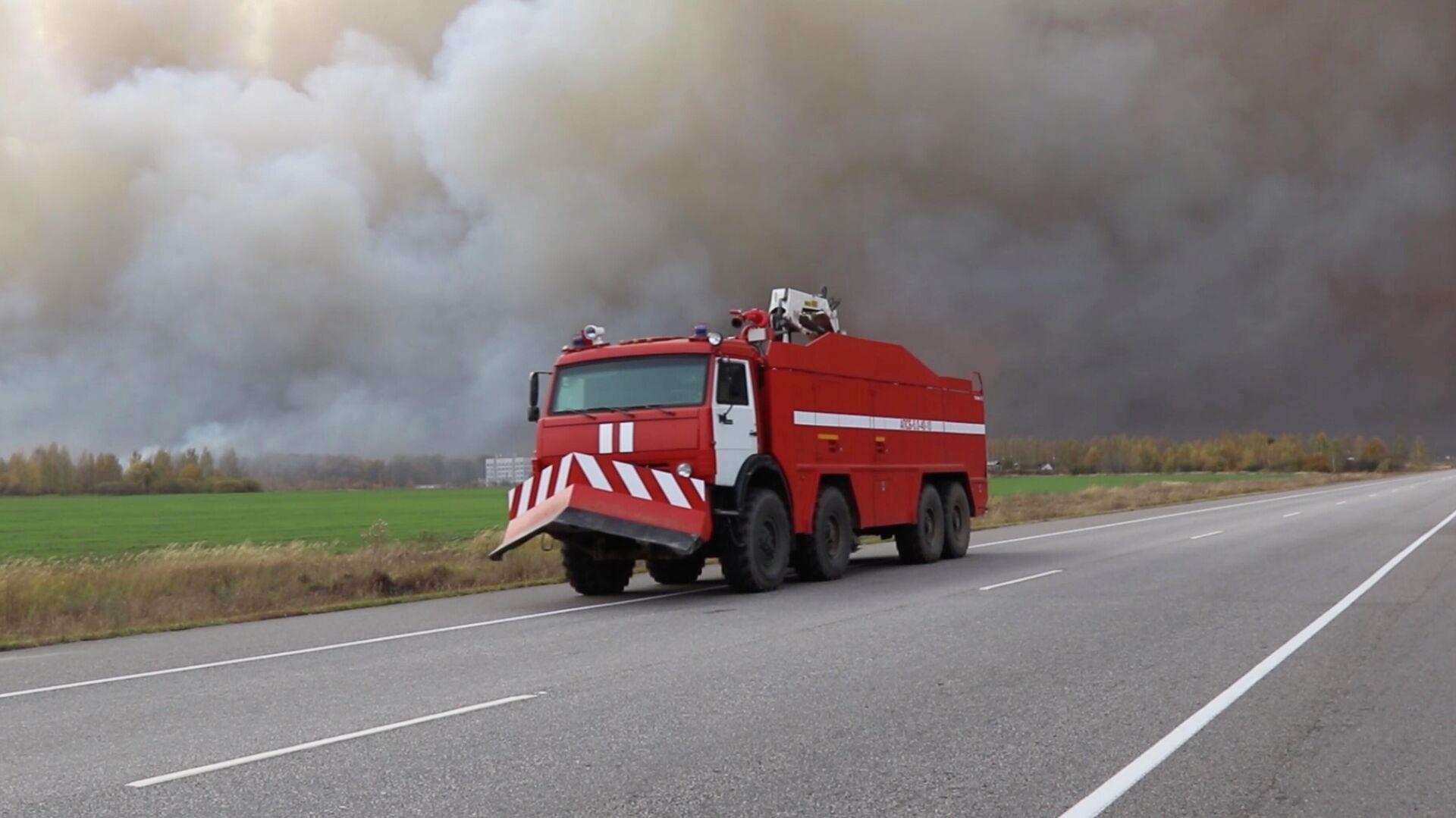 Пожар на складе под Рязанью локализовали