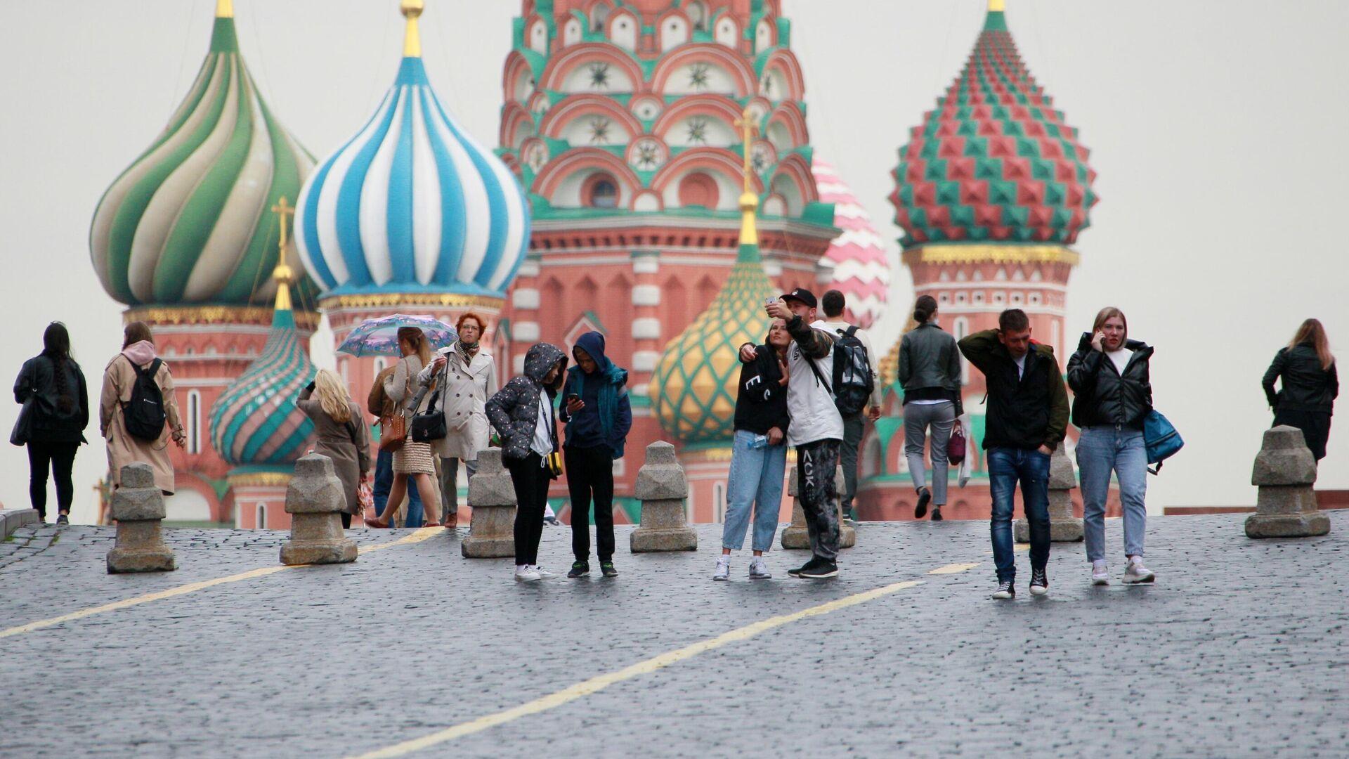 Люди на Красной площади в Москве - РИА Новости, 1920, 26.10.2020
