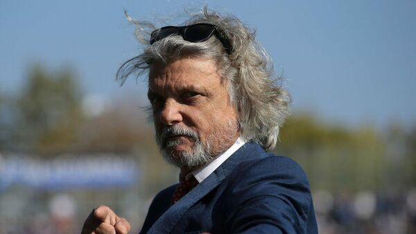 Президент итальянского футбольного клуба Сампдория Массимо Ферреро