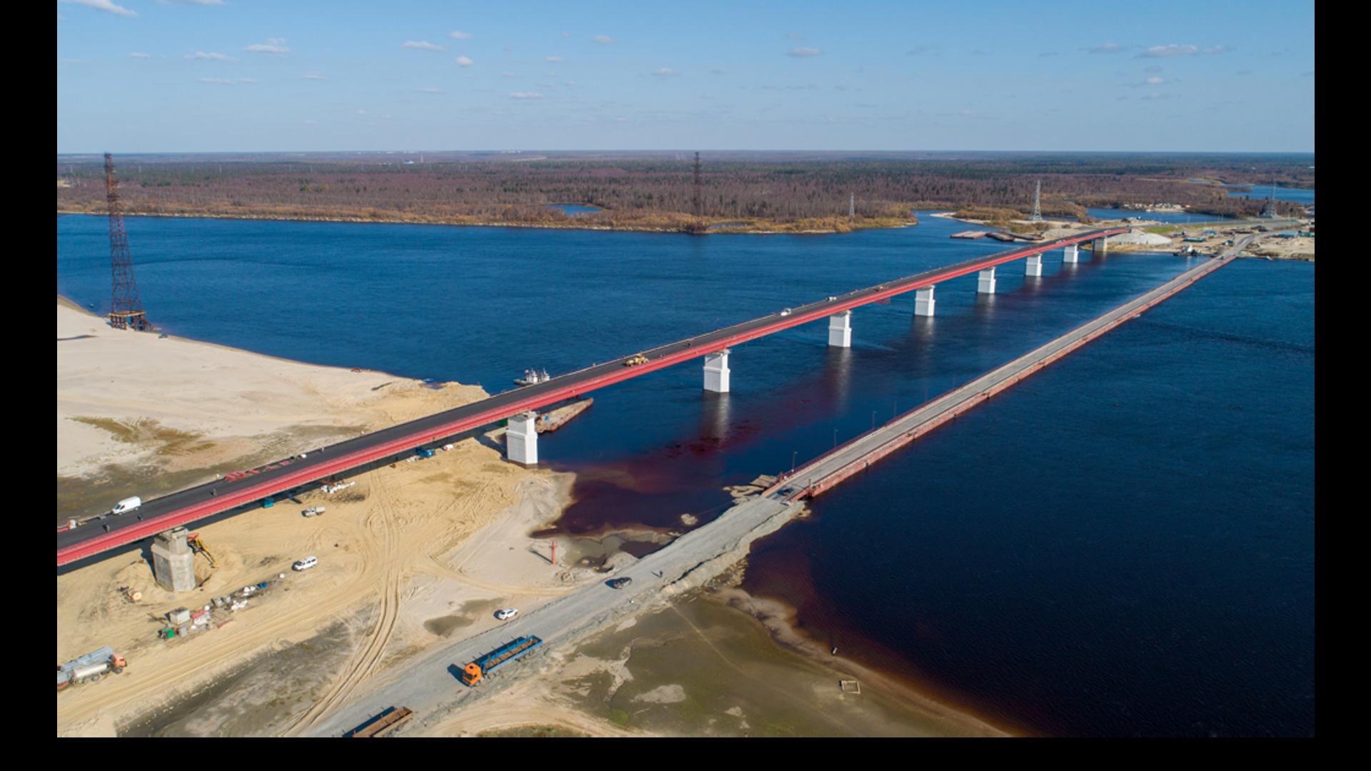 Новый мост через реку Пур  - РИА Новости, 1920, 16.10.2020