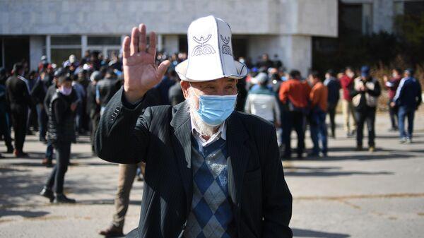 Сторонники премьер-министра Садыра Жапарова собираются на митинг в Бишкеке