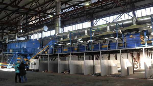 Цех мусоросортировочного завода в Чите