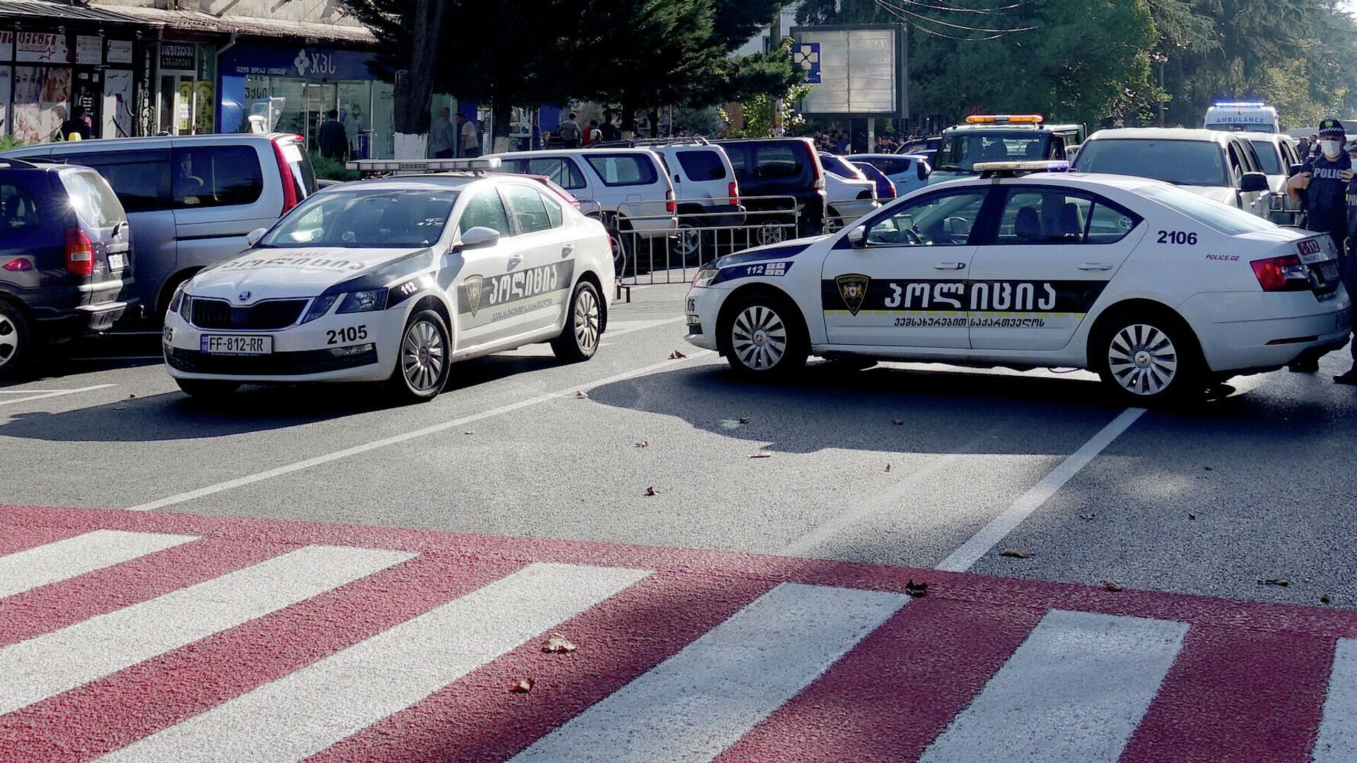 Автомобили полиции Грузии - РИА Новости, 1920, 16.01.2021