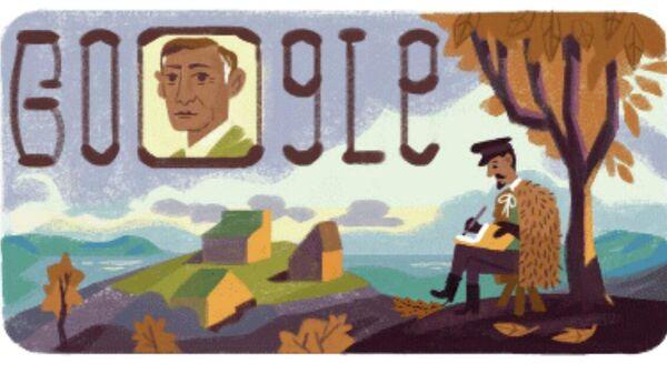 Дудл google, посвященный писателю Ивану Бунину