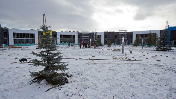 Строительная площадка областной инфекционной больницы в Сосновском районе Челябинской области