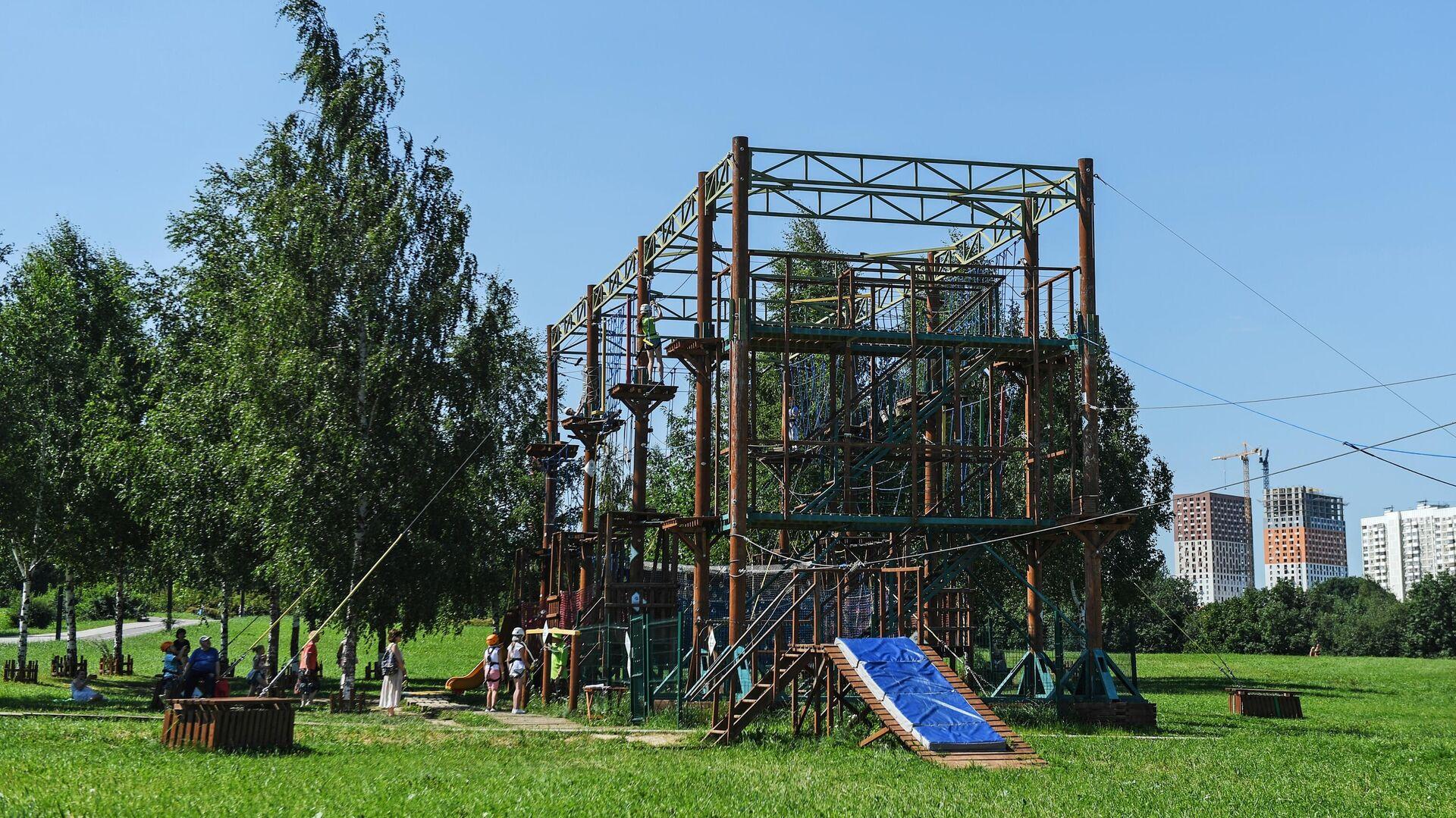 Веревочный комплекс ПандаПарк - РИА Новости, 1920, 22.07.2021