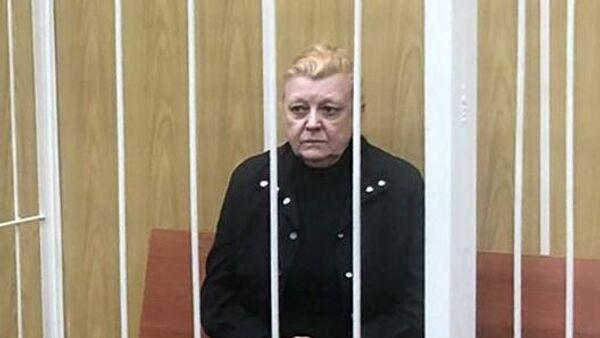 Актриса Наталья Дрожжина во время избрания меры пресечения в Хамовническом суде города Москвы