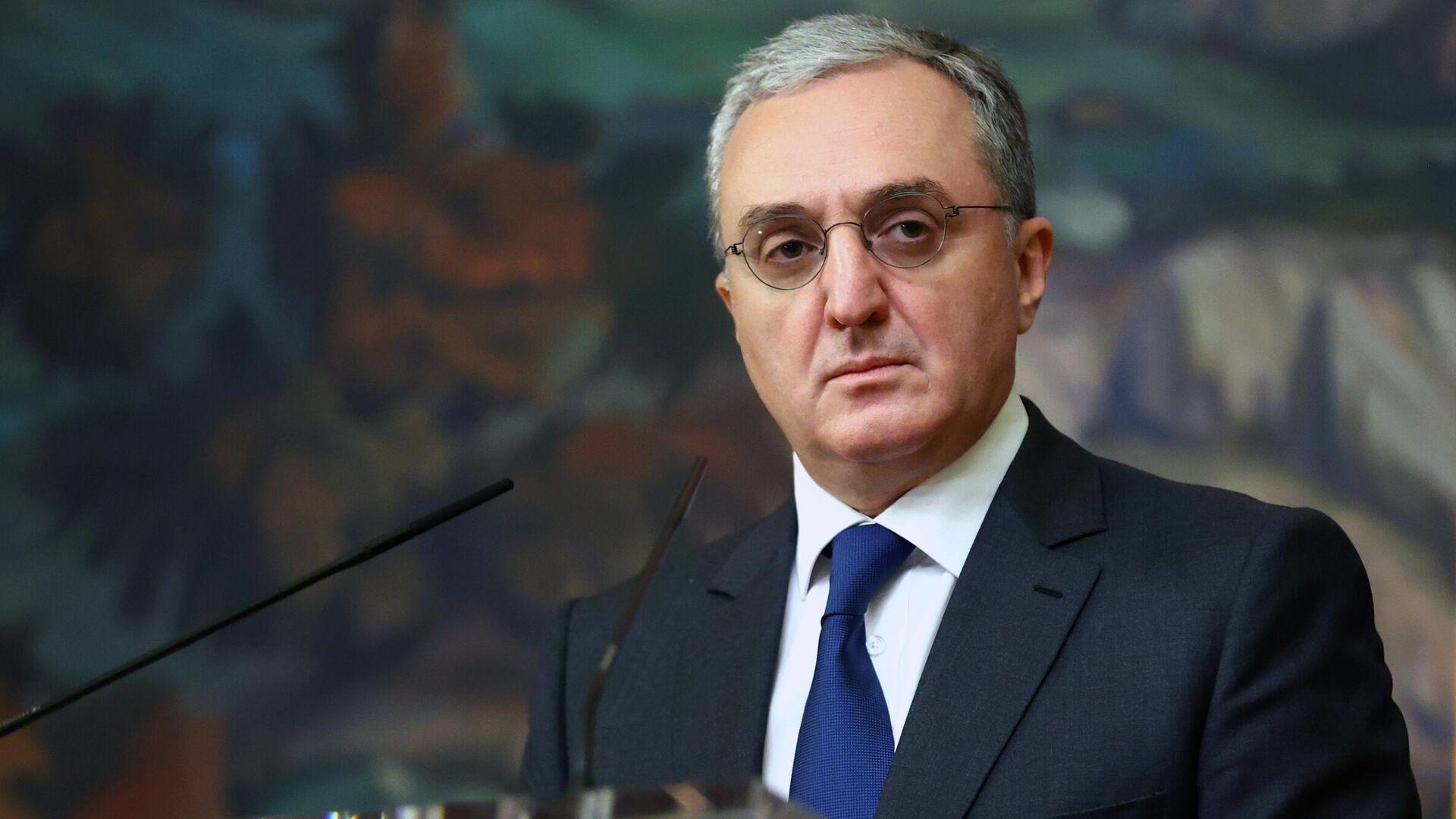 Министр иностранных дел Армении Зограб Мнацаканян - РИА Новости, 1920, 16.11.2020