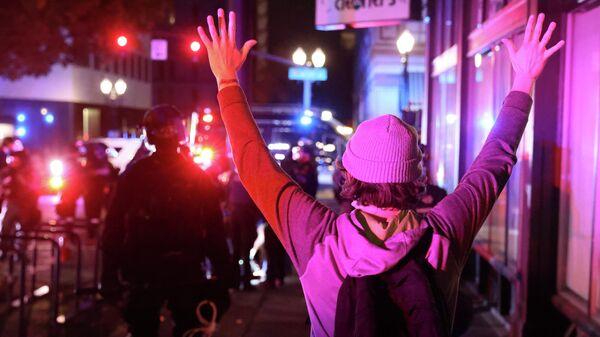 Акция протеста в Портленде, штат Орегон, США