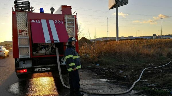 На месте аварийной посадки легкомоторного самолета в городском округе Люберцы