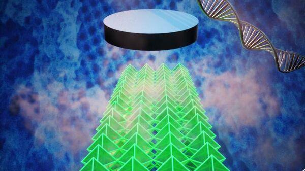Схема создания сверхпроводящего наноматериала на основе самосборки ДНК