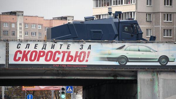 Сотрудники правоохранительных органов на несанкционированной акции в Минске