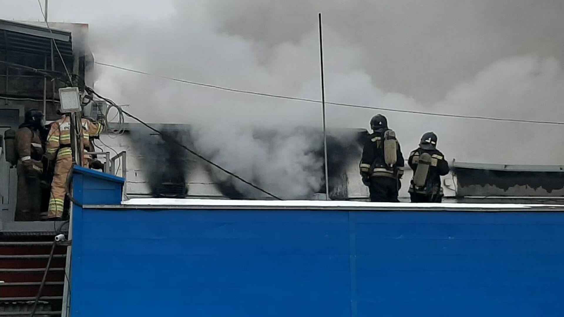 Пожар в производственном здании в Челябинске - РИА Новости, 1920, 17.11.2020