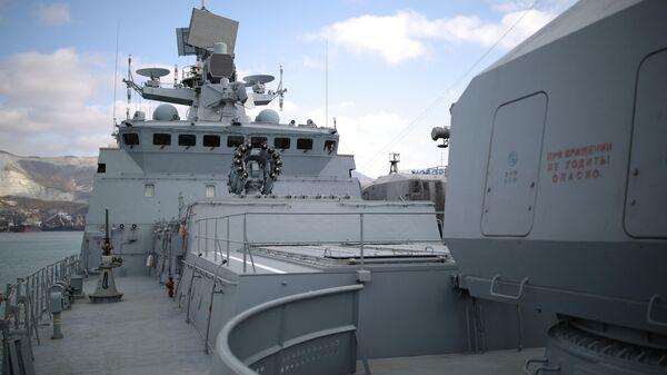 Более 20 российских кораблей провели учения в Черном море