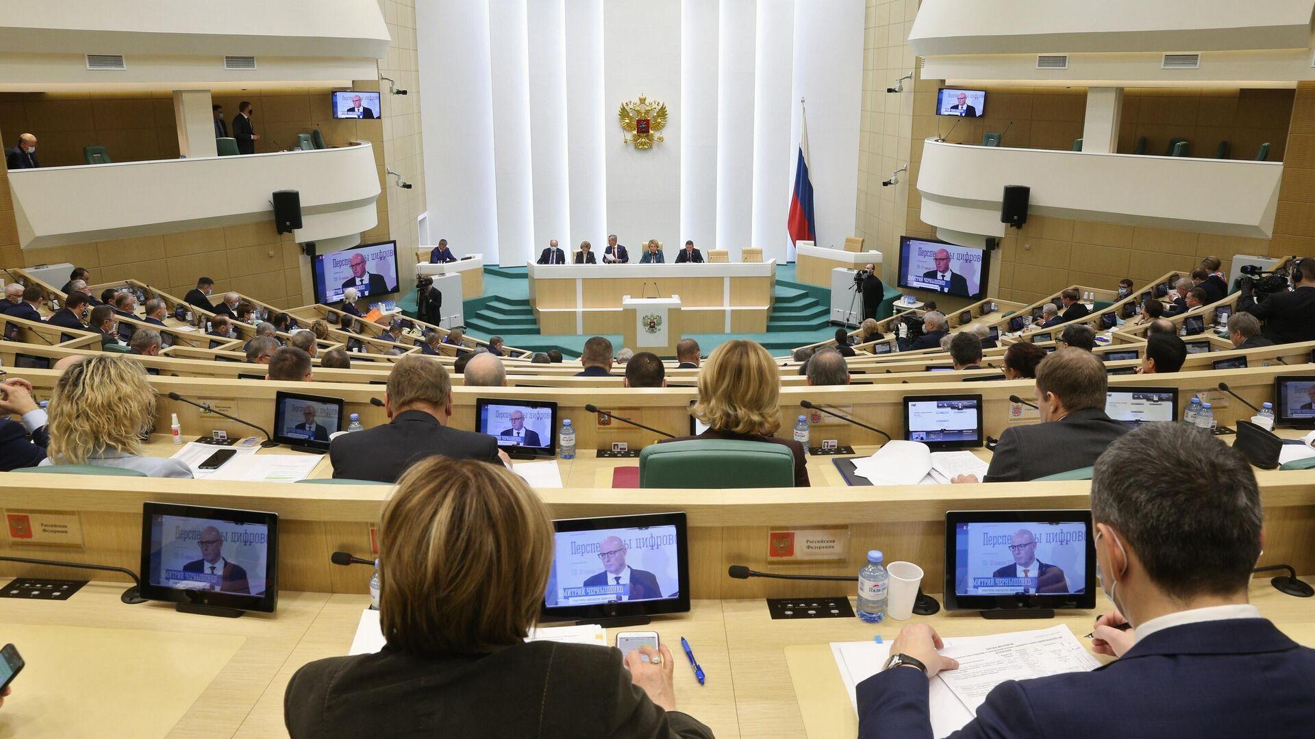 Заседание Совета Федерации РФ  - РИА Новости, 1920, 22.01.2021
