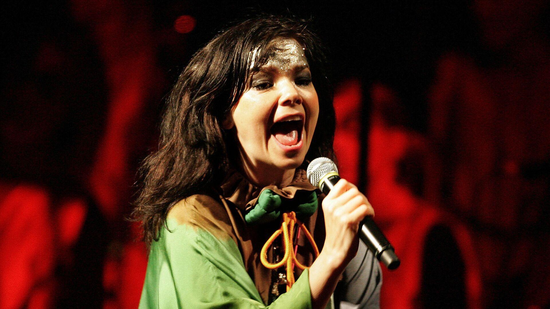 Певица Бьорк на концерте в Лиме, Перу. 2007 год  - РИА Новости, 1920, 21.11.2020