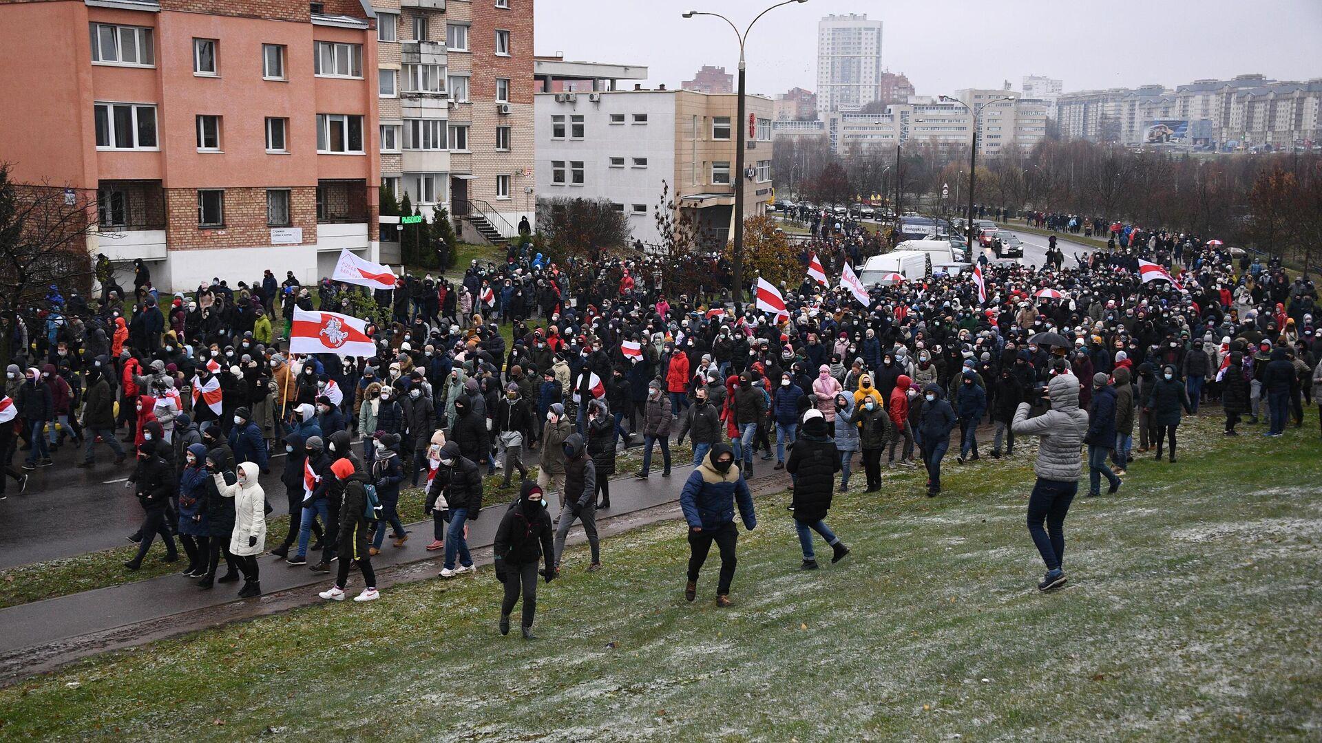 Акция протеста в Минске - РИА Новости, 1920, 29.11.2020