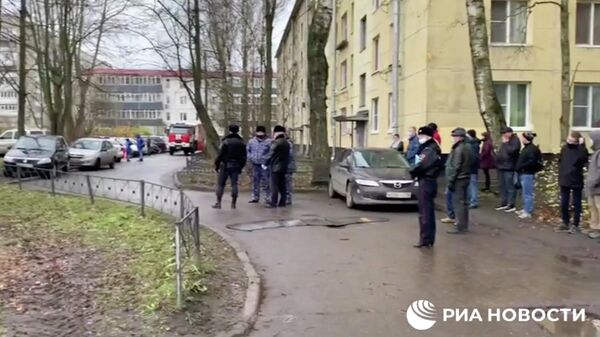 На месте захвата заложников в Колпино. Кадр видео