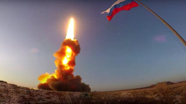 Испытание новой противоракеты на полигоне Сары-Шаган в Казахстане