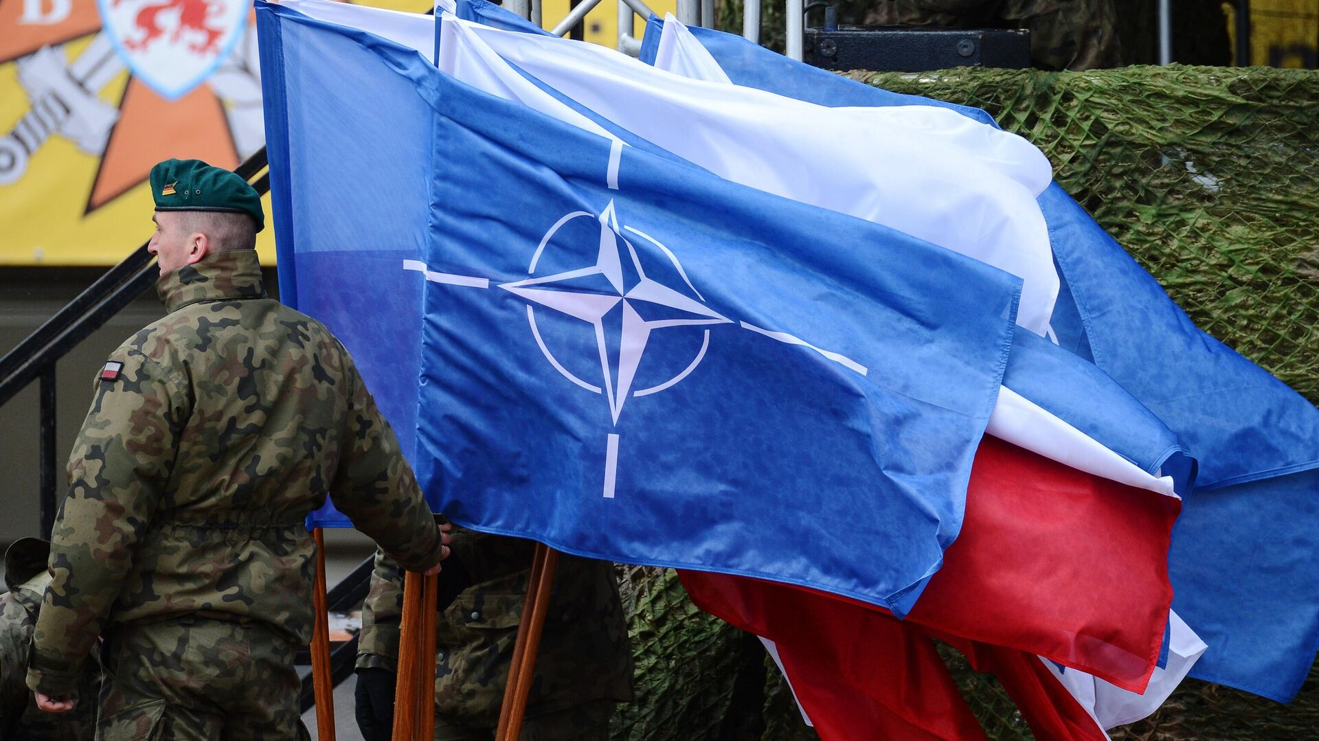 Церемония приветствия многонационального батальона НАТО под руководством США в польском Ожише - РИА Новости, 1920, 28.01.2021