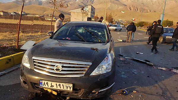 Место убийства руководителя оборонных исследований в Иране