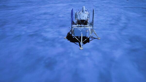 Китайский лунный зонд Чанъэ-5 на поверхности Луны