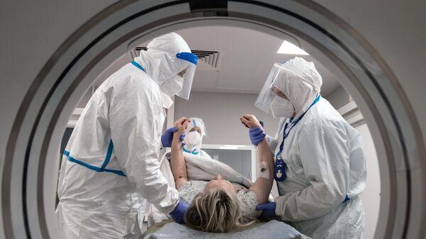 Госпиталь для больных COVID-19 в МКЦИБ Вороновское