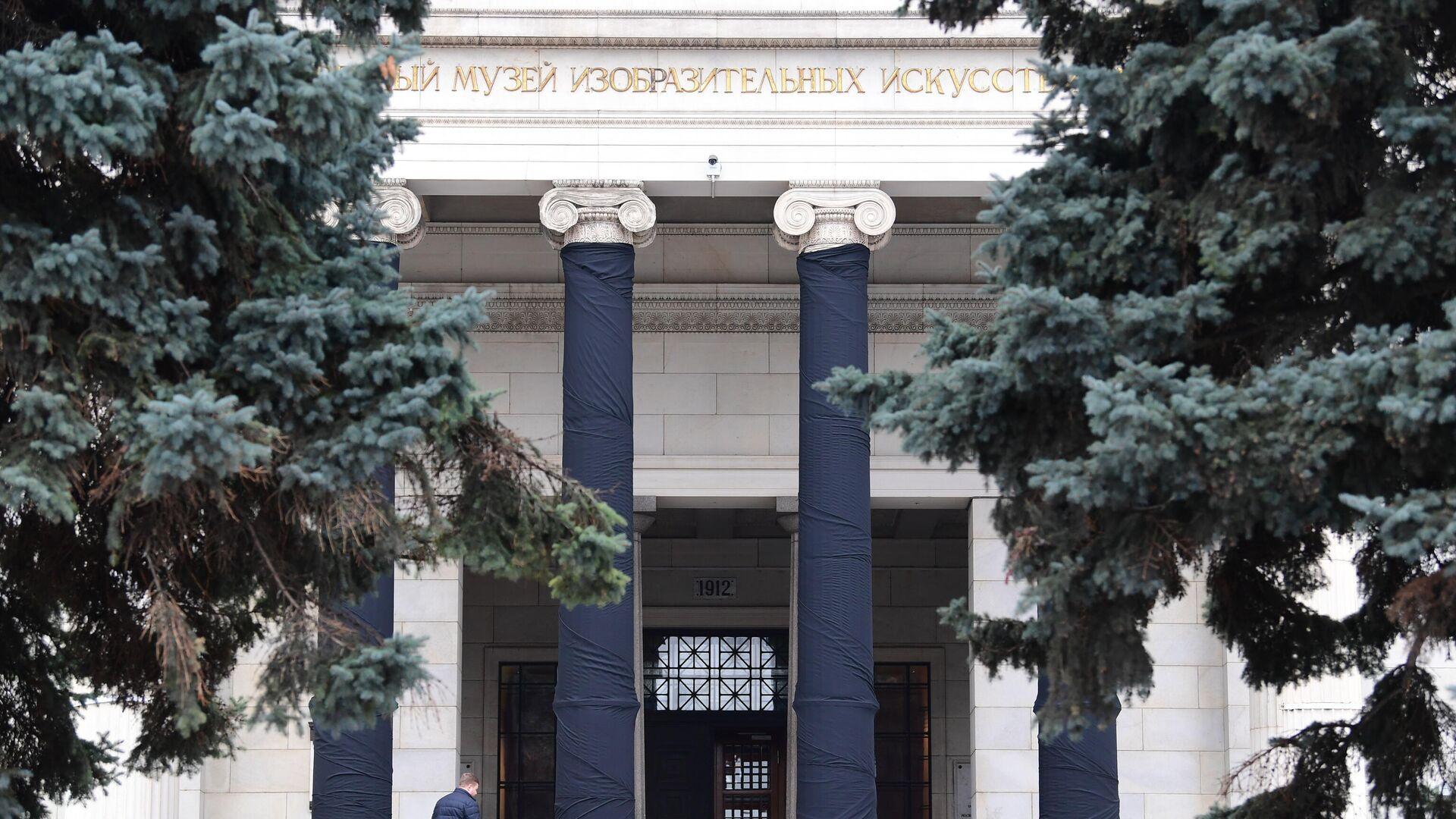 Здание Государственного музея изобразительных искусств имени Пушкина (ГМИИ), где проходит прощание с Ириной Антоновой - РИА Новости, 1920, 14.12.2020