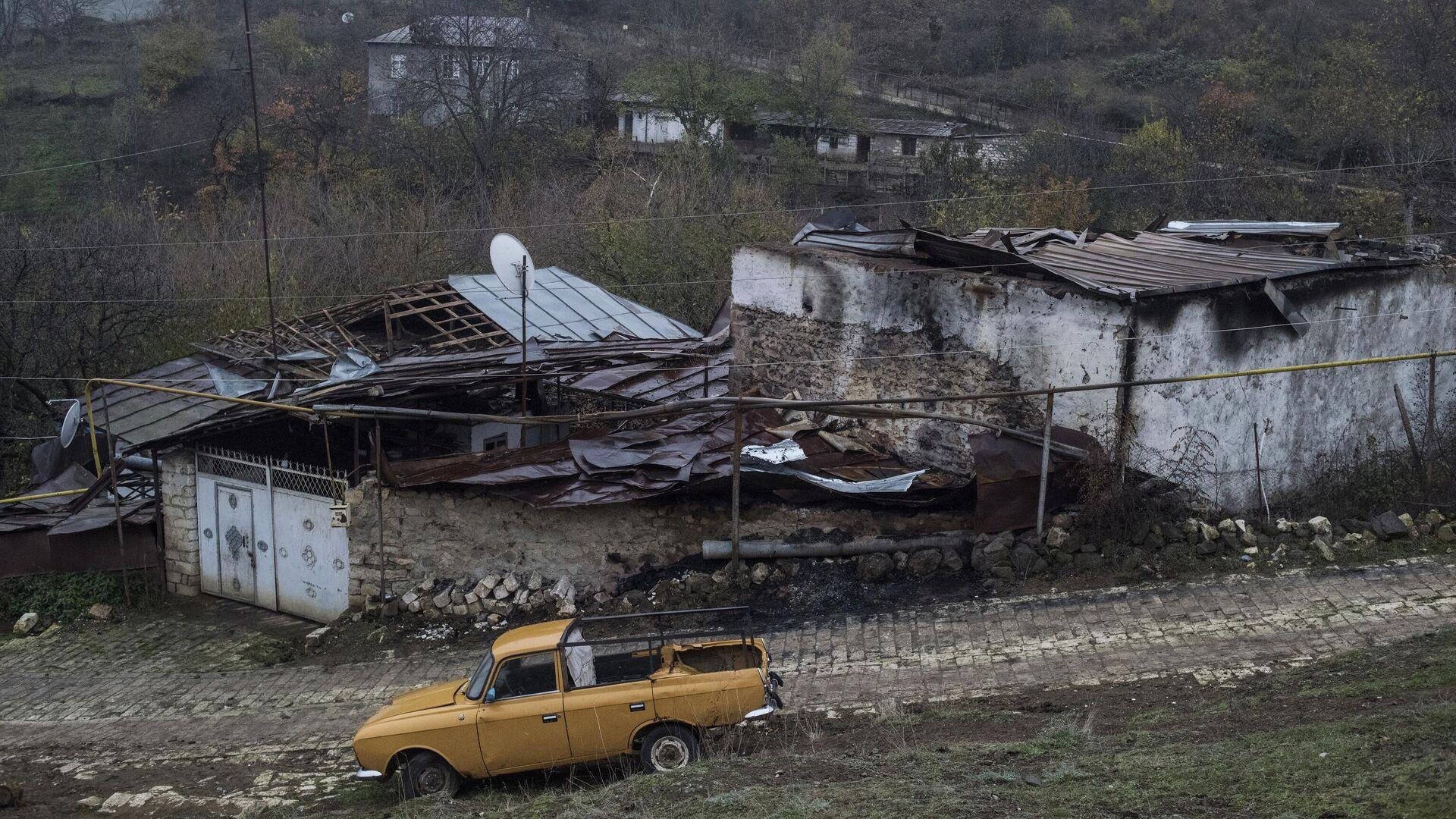 Вид на дома в селе Мачкалашен Мартунинского района в Нагорном Карабахе - РИА Новости, 1920, 04.12.2020