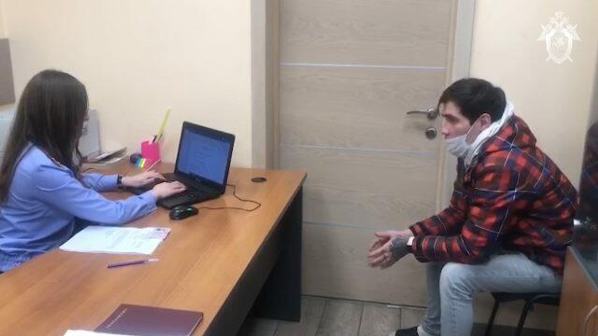 Кадры допроса блогера Стаса Решетникова - РИА Новости, 1920, 04.12.2020