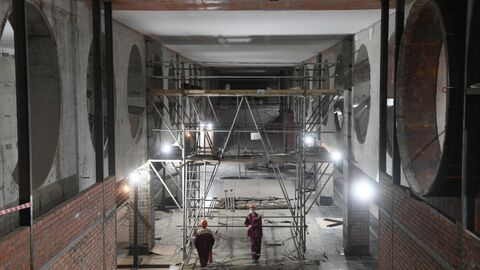 Строительство станции метро Электрозаводская