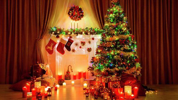 Украшение комнаты к Рождеству