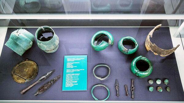 Экспонаты выставки в филиале музея Куликово поле в Музейном квартале Тулы