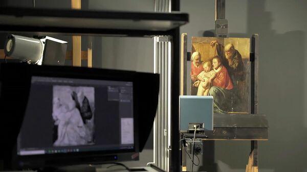 Найденная в здании администрации брюссельского района Сен-Жиль картина Святое семейство фламандского художника Якоба Йорданса