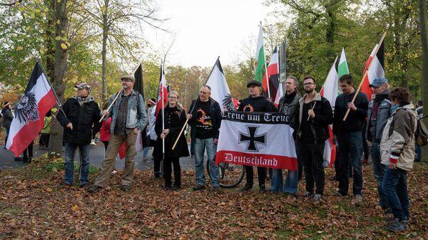 Демонстрация рейхсбюргеров в Потсдаме