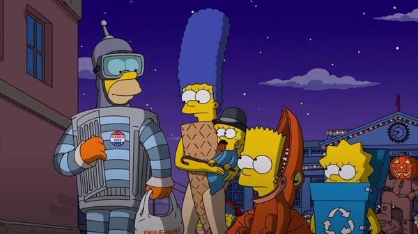 Кадр из мультсериала Симпсоны 2016 года