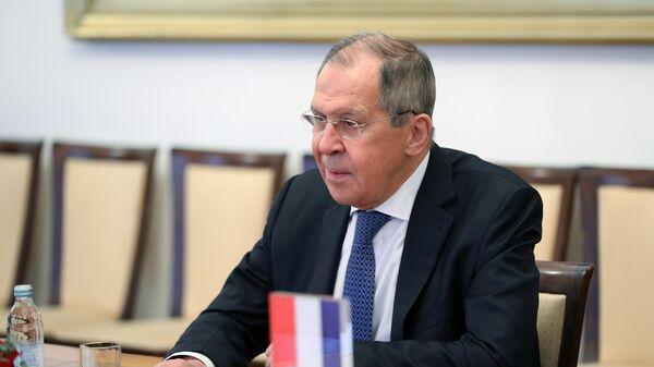 Министр иностранных дел РФ Сергей Лавров в Загребе