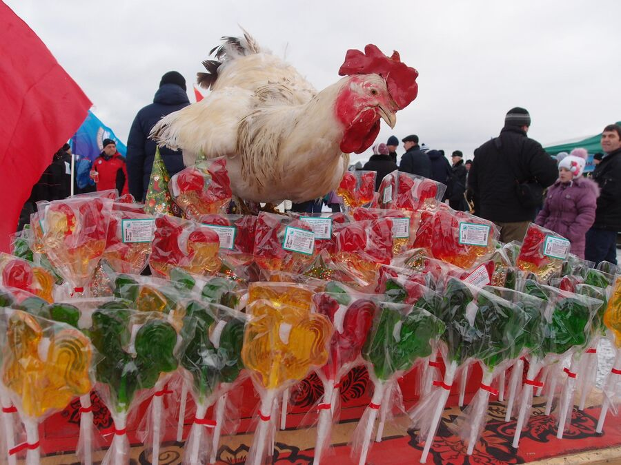Ярмарка на фестивале Зимние забавы