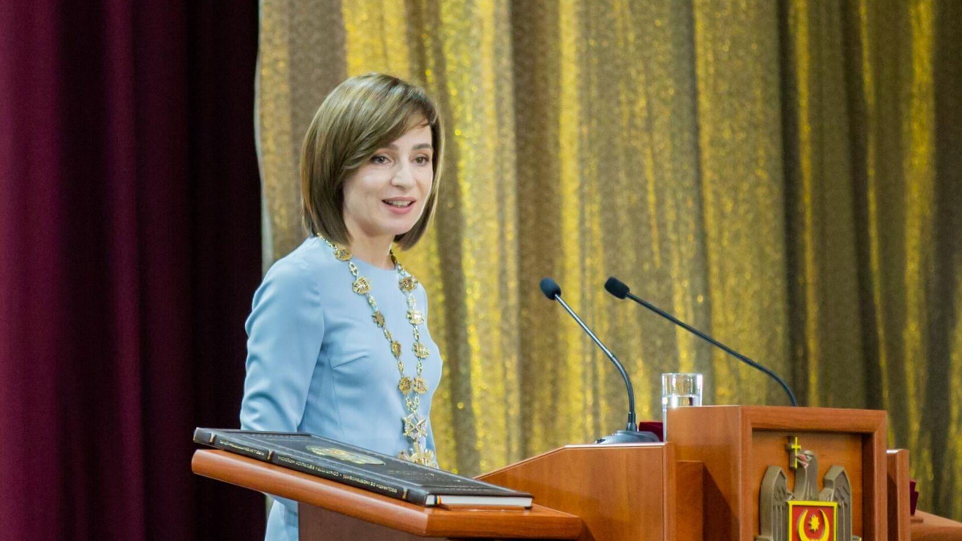 Церемония инаугурации избранного президента Молдавии Майи Санду - РИА Новости, 1920, 11.03.2021