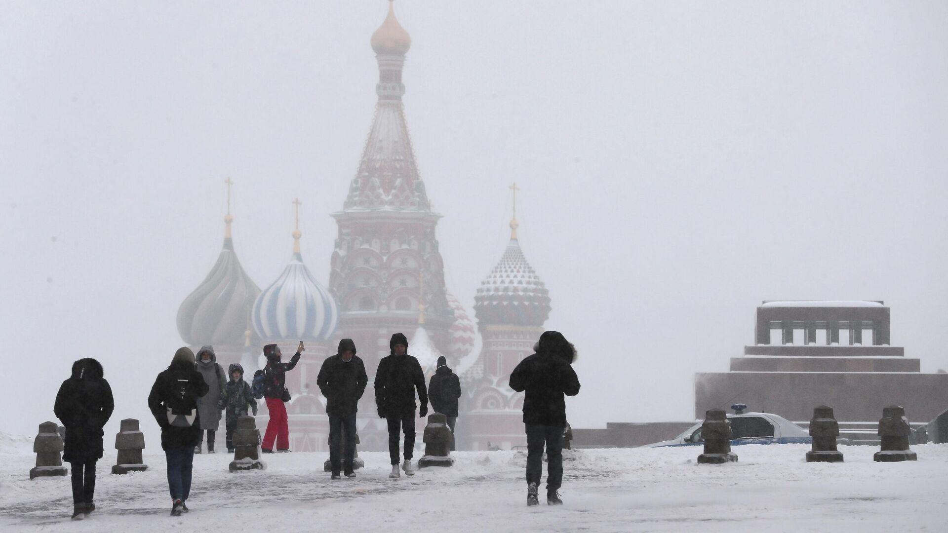 Прохожие на Красной площади в Москве - РИА Новости, 1920, 15.01.2021