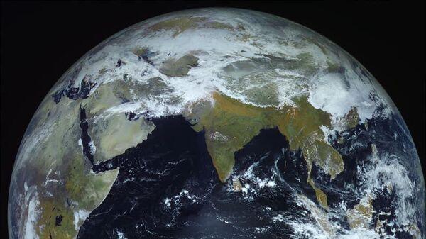 Фотография Земли, сделанная космическим аппаратом Электро-Л