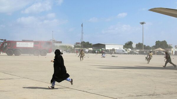 Взрыв в аэропорту города Аден, Йемен