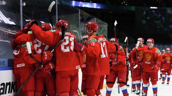 Молодежная сборная России по хоккею на чемпионате мира в Эдмонтоне